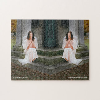 Angels Praying On Stairs Jigsaw Puzzle