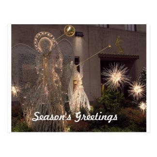 Angels Proclaim Holiday Greetings Postcard