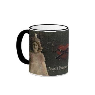 Angels Protect My Heart Ringer Mug