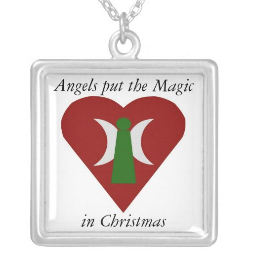 Angels put the Magic in Christmas Necklace