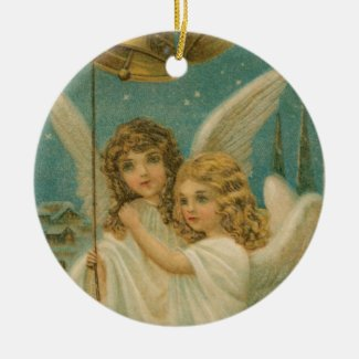 Angels Ringing Bells Collectible Holiday Ornament