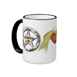 Angels Secret Service Holy Order Law Enforcers Ringer Coffee Mug