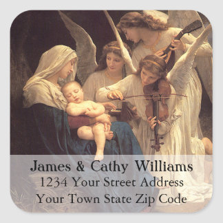 Angels Serenade Mary Christmas Address Label