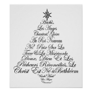 Angels Sing Christmas Tree Poster