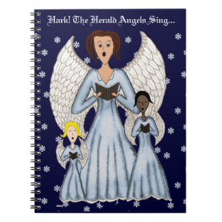 Angels Singing Carols (Blue) Notebooks