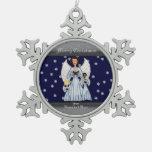 Angels Singing Carols (Blue) Ornaments