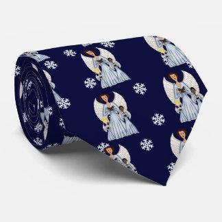 Angels Singing Carols (Blue) Tie