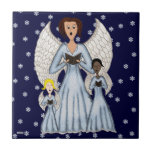 Angels Singing Carols (Blue) Tiles