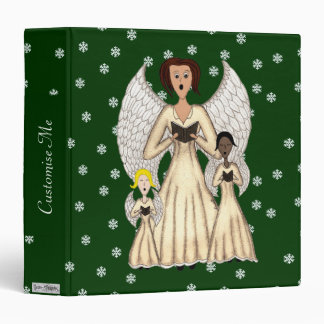 Angels Singing Carols (Gold) 3 Ring Binder