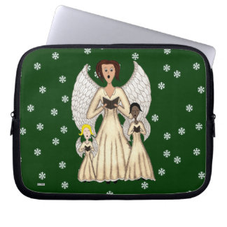 Angels Singing Carols (Gold) Computer Sleeve