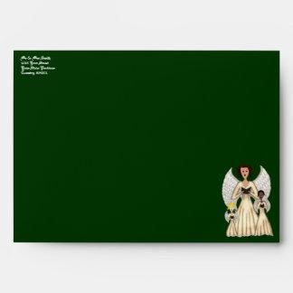 Angels Singing Carols (Gold) Envelope