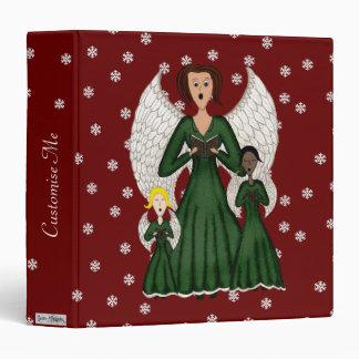 Angels Singing Carols (Green) 3 Ring Binder