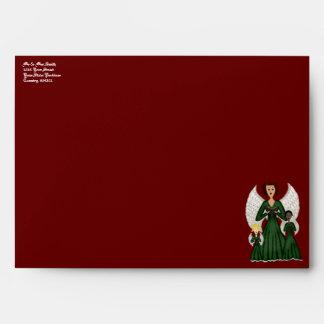 Angels Singing Carols (Green) Envelope