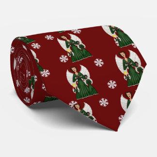 Angels Singing Carols (Green) Tie