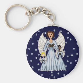 Angels Singing Carols Keychain