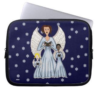 Angels Singing Carols Laptop Sleeve