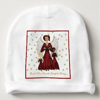 Angels Singing Carols (Red) Baby Beanie