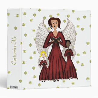 Angels Singing Carols (Red) Binder