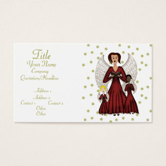 Angels Singing Carols (Red) Business Card