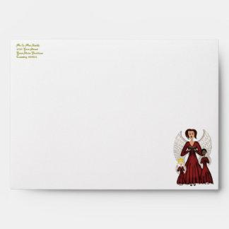 Angels Singing Carols (Red) Envelope