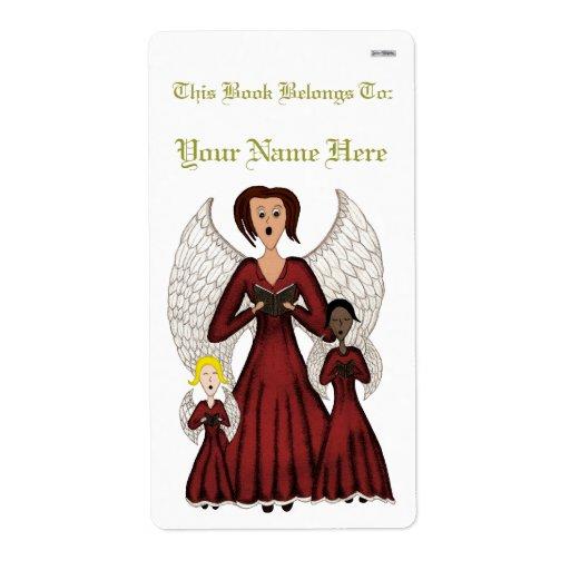 Angels Singing Carols (Red) Label