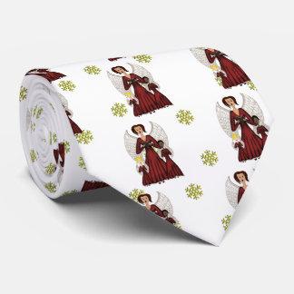 Angels Singing Carols (Red) Tie
