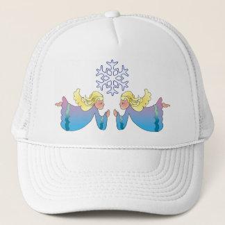 ANGELS & SNOWFLAKE by SHARON SHARPE Trucker Hat