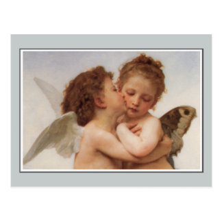 Angels, The First Kiss by Bouguereau Postcard