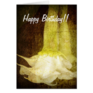 Angel's Trumpet Birthday Card