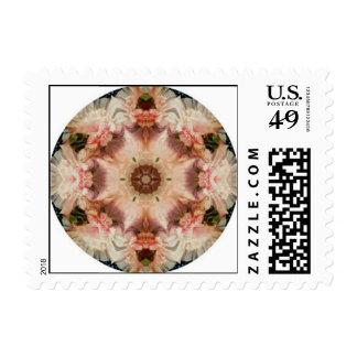 Angel's trumpet hollyhock mandala custom stamp