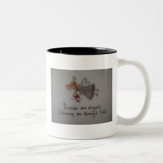 Angels Two-Tone Coffee Mug