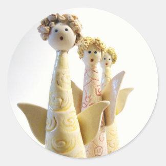 Angels - Unique ceramics Classic Round Sticker