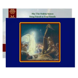 Angels Visit Shepherds Customized Christmas Card