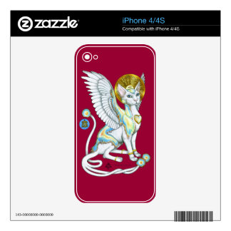 Angels Walk on 4 Paws iPhone 4 Skin