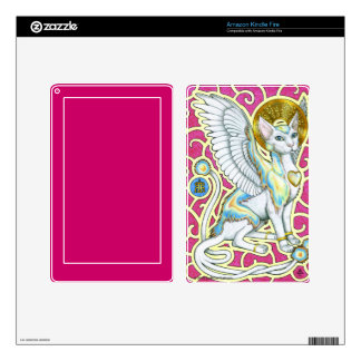 Angels Walk on 4 Paws Kindle Fire Skin