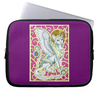 Angels Walk on 4 Paws Laptop Sleeve