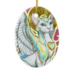 Angels Walk On 4 Paws Oval Ornament