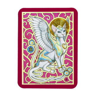 Angels Walk on 4 Paws Premium Magnet