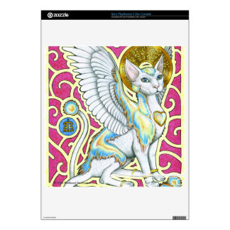 Angels Walk on 4 Paws PSP 3 Slim Skin Decals For PS3 Slim