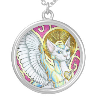 Angels Walk On 4 Paws Round Necklace