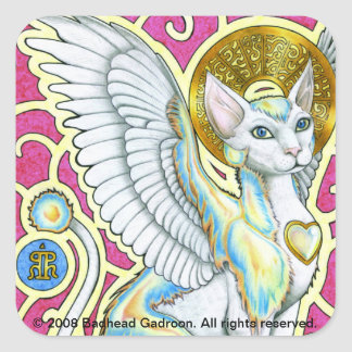 Angels Walk on 4 Paws Square Sticker