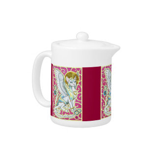 Angels Walk on 4 Paws Teapot