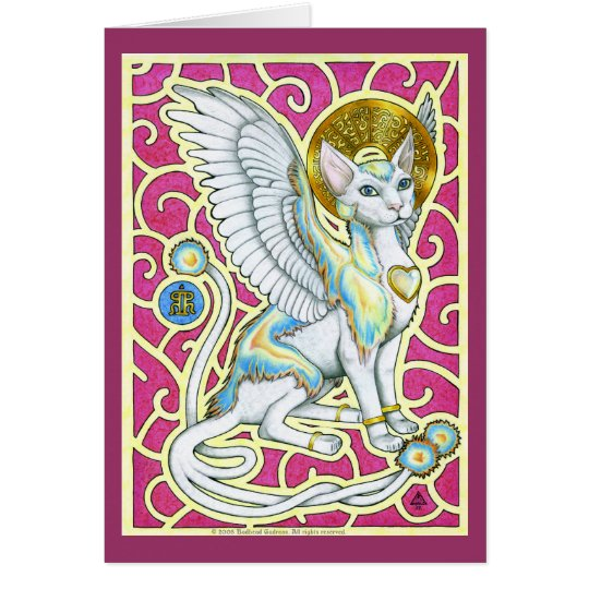 Angels Walk On Four Paws Greeting Card