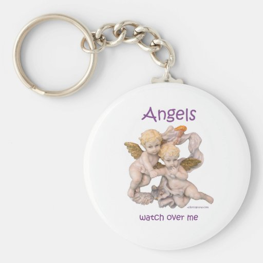 Angels Watch Over Me Key Chains
