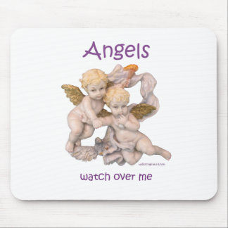 Angels Watch Over Me Mouse Pad