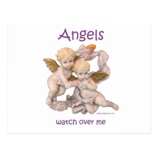 Angels Watch Over Me Postcard