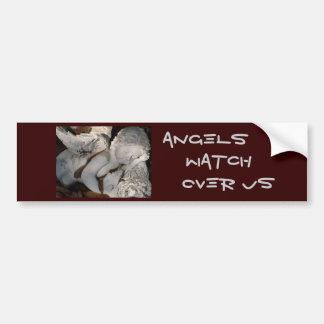 Angels, Watch Over Us Car Bumper Sticker