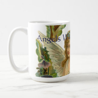Angels Watching Over Me 6 Vintage Print Coffee Mug