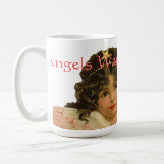 Angels Watching Over Me 9 Vintage Print Coffee Mug