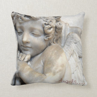 Angels Watching Over Me Pillow Faith Venice Statue
